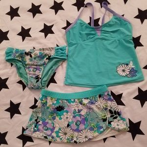 Tankini with skirt cover up set